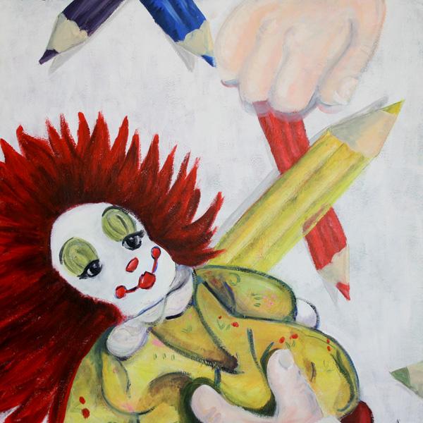 clown schilderij