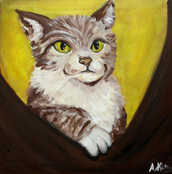 kat schilderij