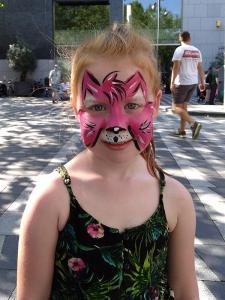 Roze kat